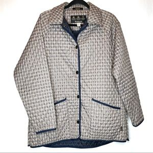 Barbour Classic Quilted Plaid Jacket 12